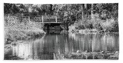 Matthaei Botanical Gardens Black And White Beach Sheet
