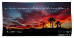 Matthew 21 Beach Towel
