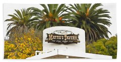 Beach Towel featuring the photograph Matties Tavern Los Olivos California by Floyd Snyder