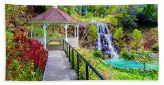 Maui Botanical Garden Beach Sheet by Michael Rucker