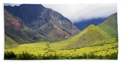 Beach Towel featuring the photograph Maui Mountains by Patricia Griffin Brett