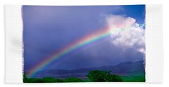 Beach Sheet featuring the photograph Maui Rainbow by Marie Hicks