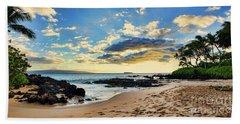 Maui Sunset Panorama Beach Towel