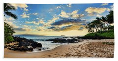 Maui Sunset Panorama Beach Towel
