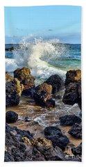 Maui Wave Crash Beach Towel