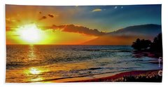 Maui Wedding Beach Sunset  Beach Towel