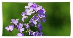 Beach Towel featuring the photograph Mauve Flowers  by Lyle Crump