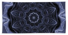 Mauve Rose Mandala Beach Sheet
