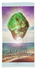 May Birthstone Emerald Beach Sheet