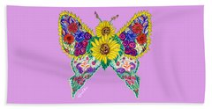 May Butterfly Beach Towel