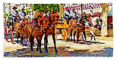 May Day Fair In Sevilla, Spain Beach Towel
