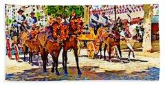 May Day Fair In Sevilla, Spain Beach Sheet