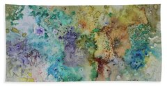 Beach Sheet featuring the painting May Flowers by Joanne Smoley
