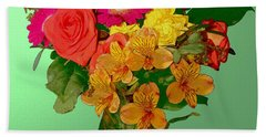 May Flowers Beach Towel
