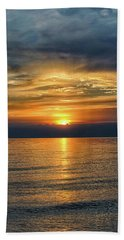 April Sunset Beach Towel by Kathi Mirto