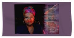 Maya Angelou Beach Towel