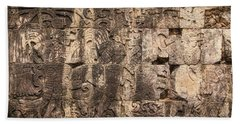 Mayan Hieroglyphics Beach Towel