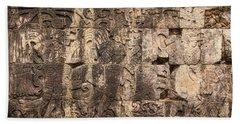 Mayan Hieroglyphics Beach Towel