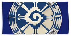 Mayan Hunab Ku Design Beach Towel