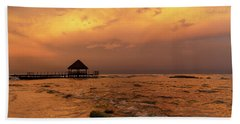 Mayan Sunset Beach Towel by Dennis Hedberg