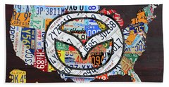 Mazda License Plate Map Of The Usa Beach Towel