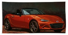 Mazda Mx-5 Miata 2015 Painting Beach Towel