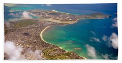 Beach Towel featuring the photograph Mcbh Aerial View by Dan McManus