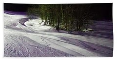 Beach Towel featuring the photograph Mccauley Evening Snowscape by David Patterson