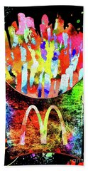 Mcdonald's French Fries Grunge Beach Towel