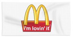 Mc Donalds T-shirt Beach Towel