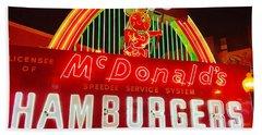 Mcdonald's Historical Neon Beach Towel