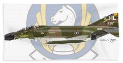 Mcdonnell Douglas F-4d Phantom II Hill Beach Towel by Arthur Eggers