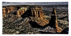 Mcinnis Canyons Tower Beach Towel
