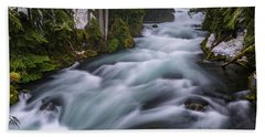 Beach Towel featuring the photograph Mckenzie River by Cat Connor