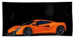 Mclaren 650 S  Beach Towel