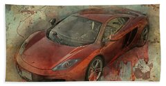 Beach Towel featuring the photograph Mclaren Graffiti by Joel Witmeyer