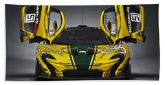 Mclaren P1 Gtr Beach Sheet by Thomas M Pikolin