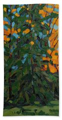 Mcmichael Forest Wall Beach Sheet by Phil Chadwick