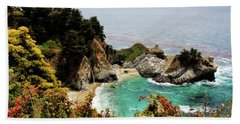 Mcway Falls 2 Beach Sheet by Judy Vincent
