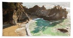 Mcway Falls, California Beach Towel