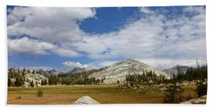 John Muir Trail High Sierra Camp Meadow Beach Towel by Amelia Racca