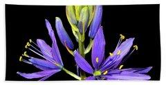 Meadow Hyacinth 002 Beach Towel by George Bostian