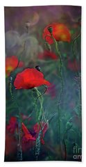 Meadow In Another Dimension Beach Towel by Agnieszka Mlicka