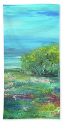 Meadow Trees Beach Towel