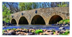 Beach Towel featuring the photograph Meadows Road Bridge by DJ Florek