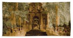 Paris, France - Medici Fountain Oldstyle Beach Sheet
