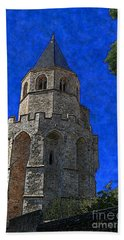 Medieval Bell Tower 2 Beach Sheet