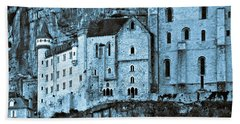 Medieval Castle In The Pilgrimage Town Of Rocamadour Beach Towel