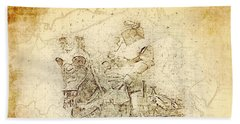Medieval Europe Beach Sheet