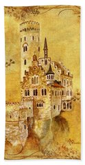 Medieval Golden Castle Beach Towel